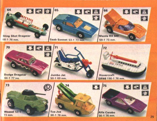 catalogue matchbox 1974-1975 p25 saab sonnet toe joe