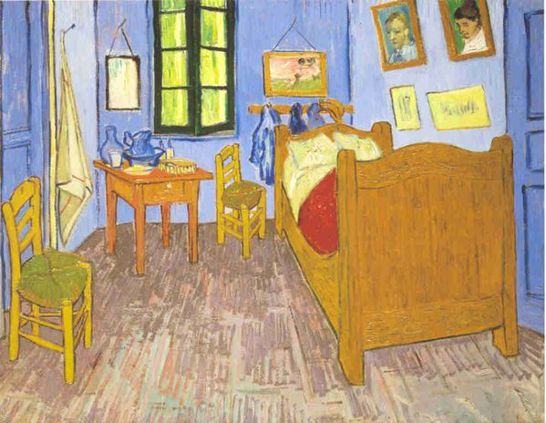 van gogh la chambre arles lankaart. Black Bedroom Furniture Sets. Home Design Ideas