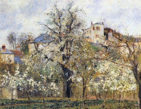 Camille Pissarro - Orchard with Flowering Trees%2C Spring%2