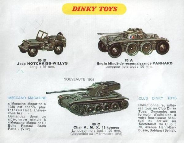 catalogue dinky toys automne 1958 p12 jeep hotchkiss willys
