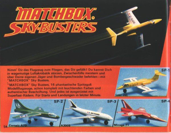 catalogue matchbox 1974-1975 p54 a300b mirage f1