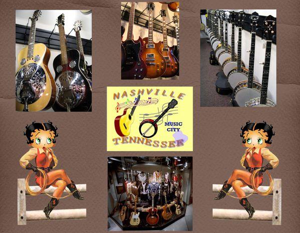 photos nashville guitares