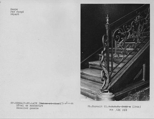 escalier Hôtel de Rochefort 56 rue de Paris Saint-Germain-en-Laye