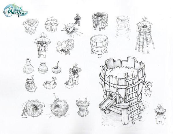 Props sketch wakfu