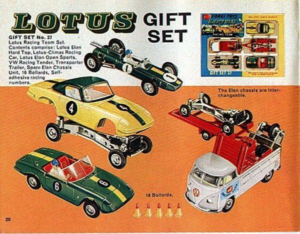 p20 catalogue corgi 1967 lotus gift set