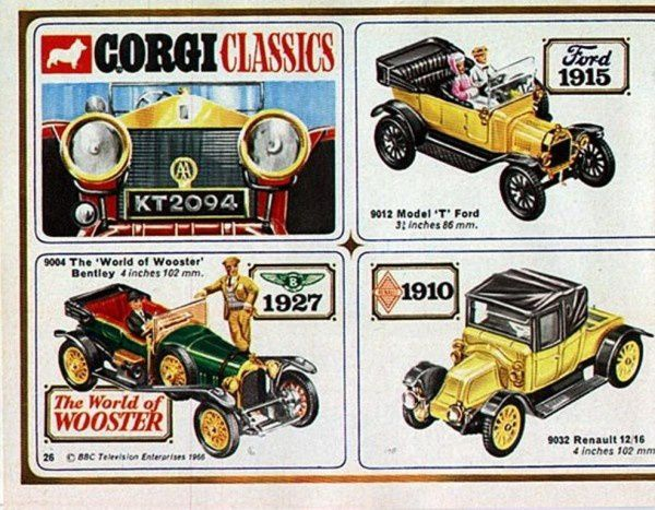 p26 catalogue corgi 1967