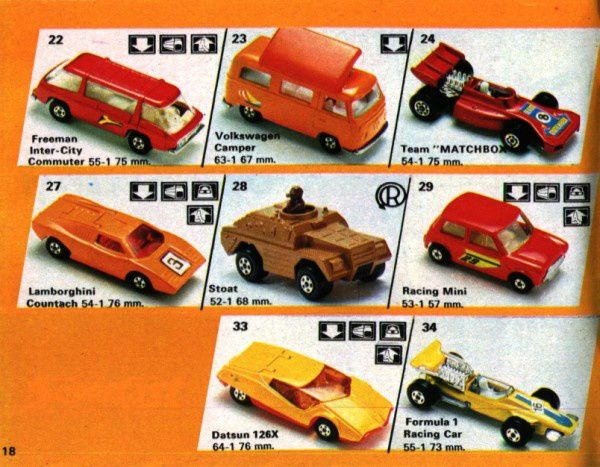 catalogue matchbox 1974-1975 p18 datsun 126x