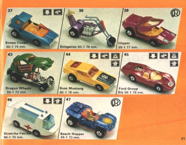 catalogue matchbox 1974-1975 p21 stingeroo boss mustang