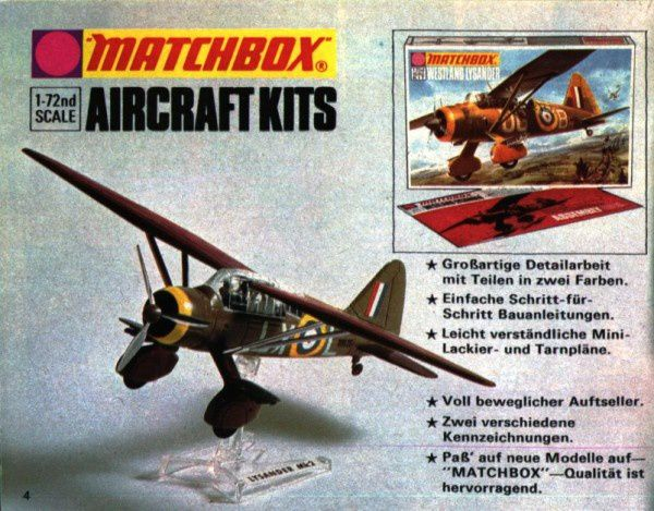 catalogue matchbox 1974-1975 p04 aircraft kits