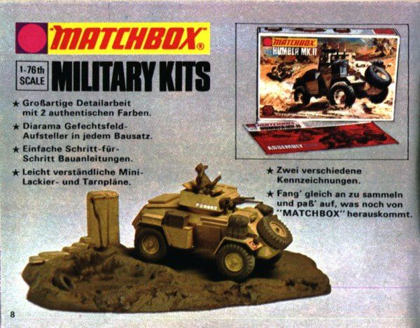 catalogue matchbox 1974-1975 p08 military kits