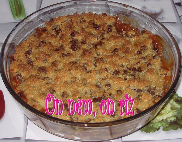 Crumble choco-pommes-pruneaux2