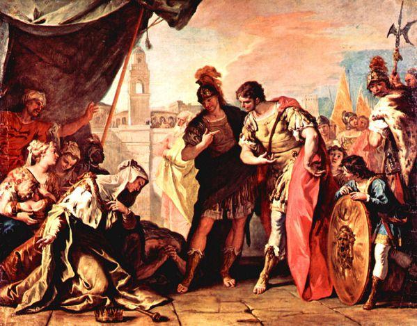 Sebastiano Ricci la famille de Darius et Alexandre