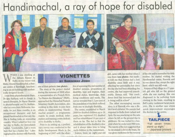 Handimachal - The Tribune 15 Feb 2012