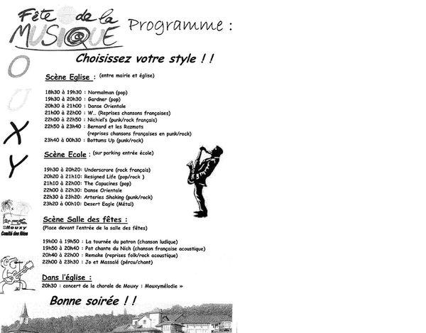 programmme fête de la musique 2010