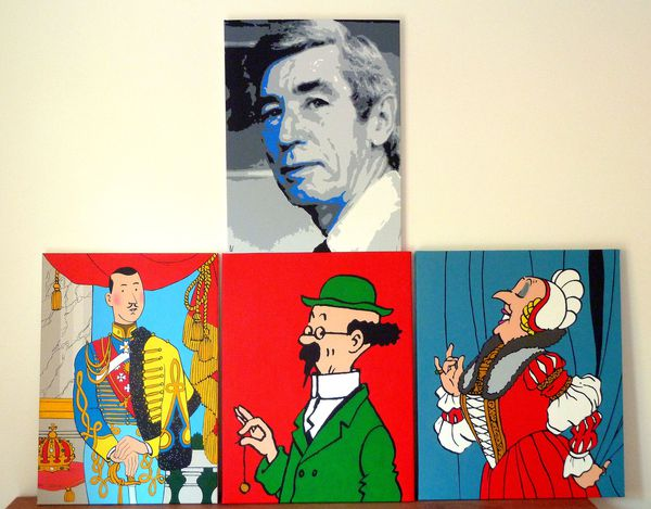 Hergé - Pop Art Vue d'ensemble