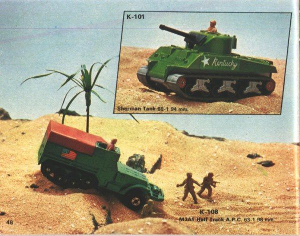 catalogue matchbox 1974-1975 p48 m3a1 half track sherman ta