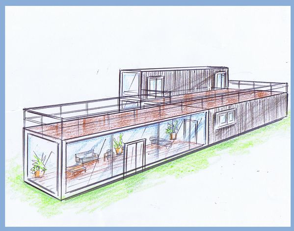 Le blog de elise fossoux d coration architecture d for Plan amenagement container habitable