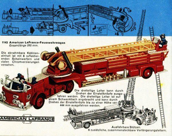 catalogue corgi 1969 p48 pompiers american lafrance