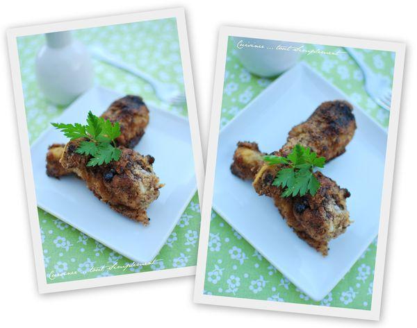 Pilons de poulet pan s corn flakes comt noix - Comment cuisiner des pilons de poulet ...