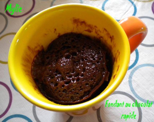 fondant au chocolat rapide 1