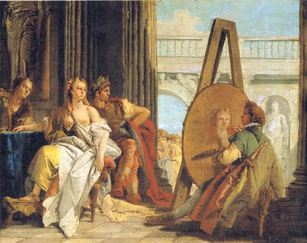 Alexander & Campaspe, painted by Apelles Giovanni Battista