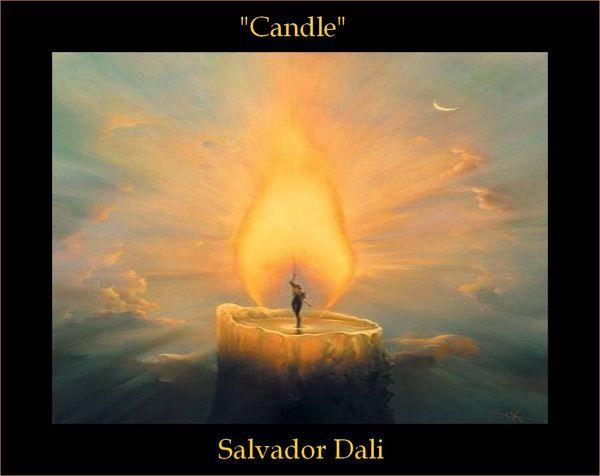 "Connu Le Tableau du samedi: ""Candle"" par Salvador Dali - Tableau Peinture IW33"
