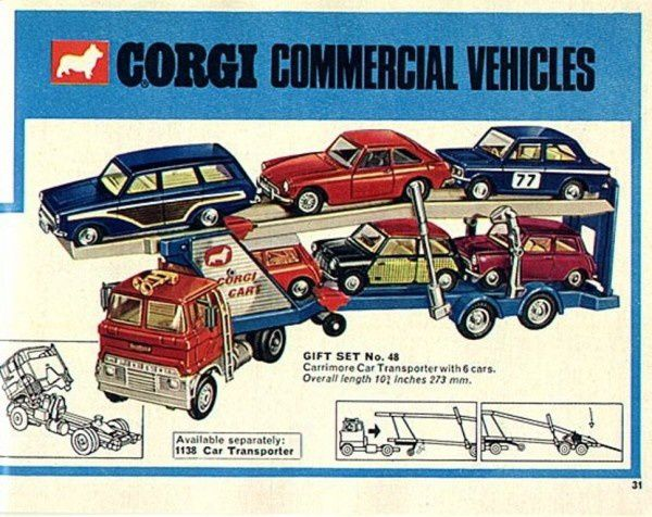 p31 catalogue corgi 1967