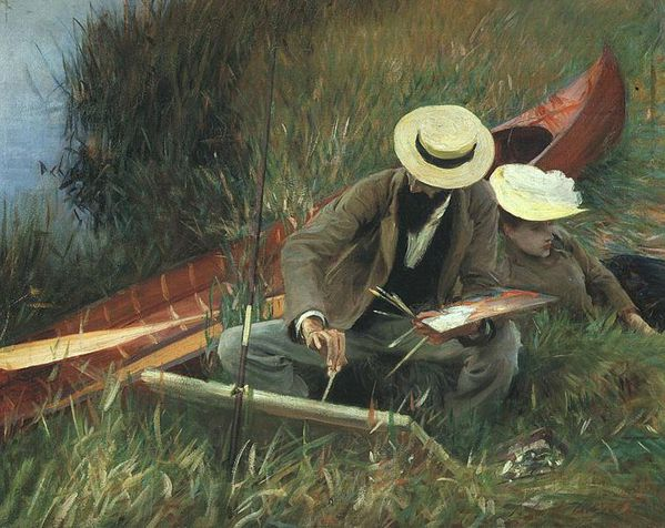755px-Sargent - Paul Helleu Sketching with his Wife