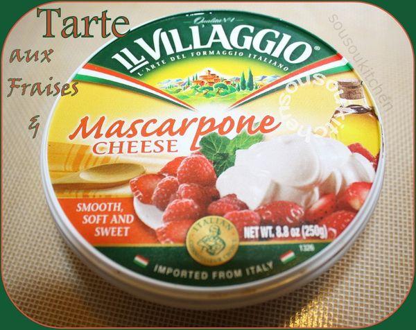 Tarte aux fraises et Marscapone