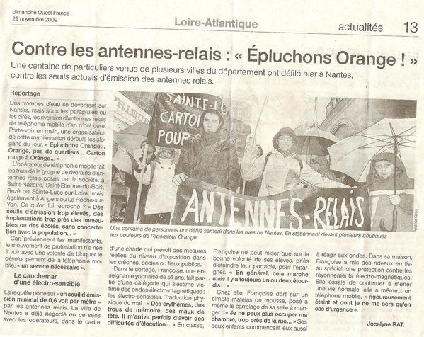 antennes-relais Orange RFF sainte-luce