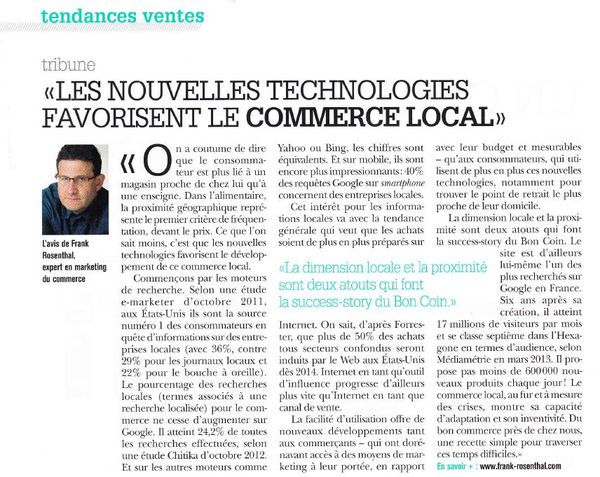 Benchmark distribution juillet aout 2013 commerce local