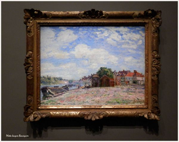 Le Loing a St Mammes Alfred Sisley Musee Luxembourg