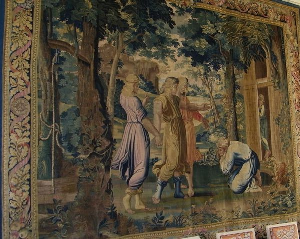 215 Tapestry of Abraham and the Three Strangers by Sébasti