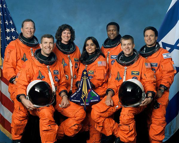 749px-Crew of STS-107, official photo