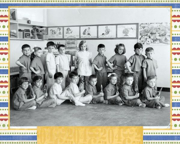 collage école chantal 1958