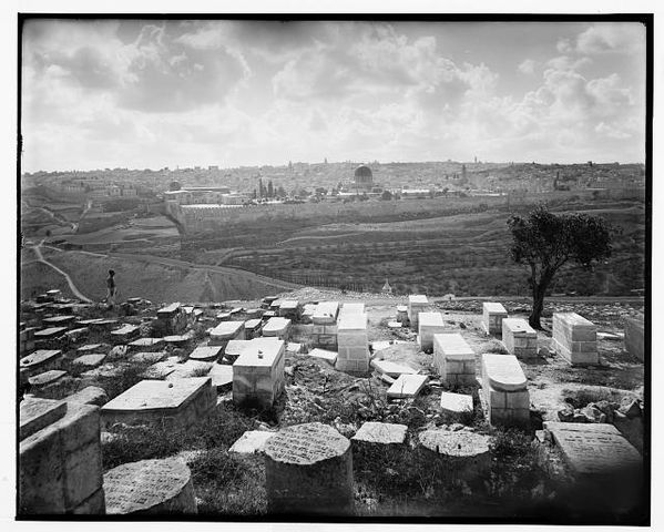 Jewish tombs on Kedron, 1898
