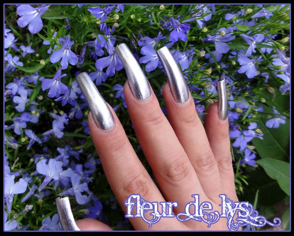 Vernis ongles argent