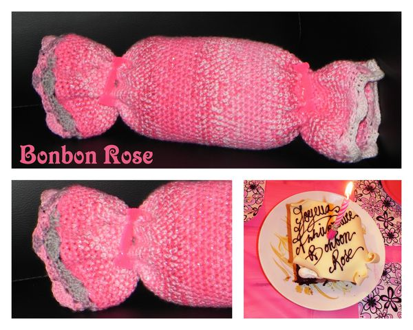 montage bonbon rose