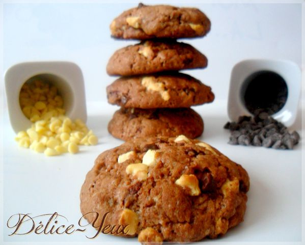 Cookies aux 2 chocolats 2