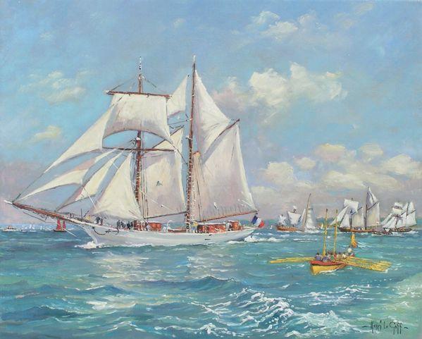 Henri Le Goff - peintre de marines - Fêtes maritimes de Do