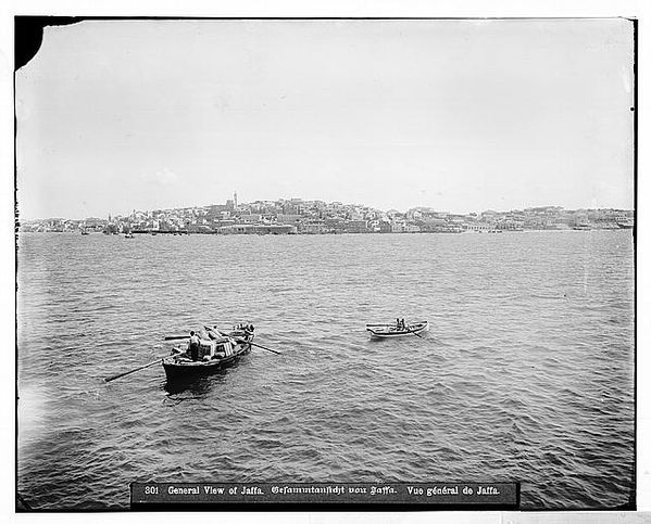 Jaffa (Joppa) and environs. View of Jaffa from the sea betw