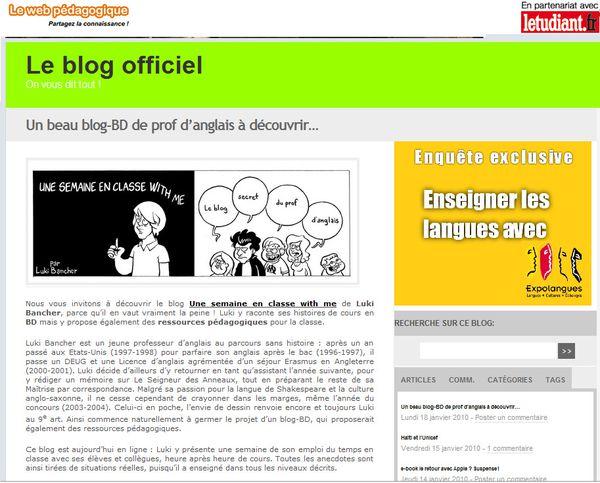article 'le web pédagogique'