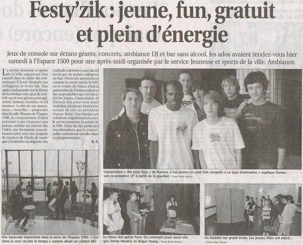 2010.03.27 Festy'zik Ambérieu (Le Progrès)