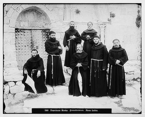 Franciscan monks (Jerusalem between 1898 and 1914)