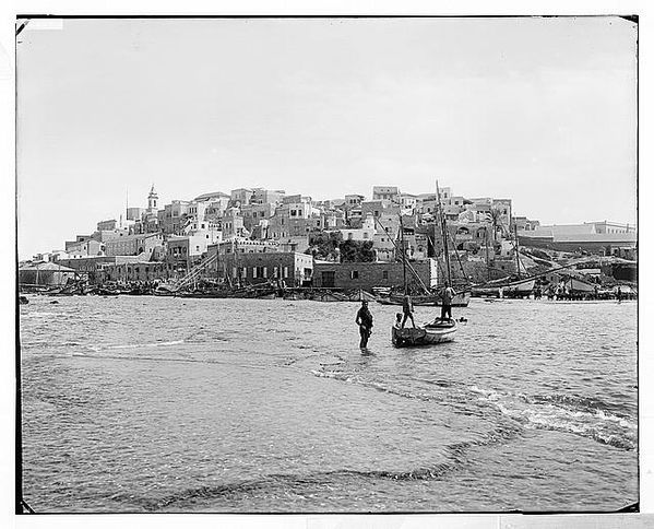Jaffa (Joppa) and environs. The landing place 1898-1914