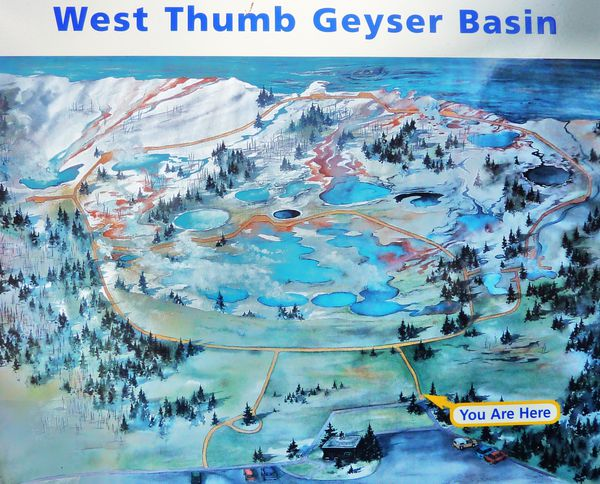 Jour 10 Yellowstone West Thumb carte