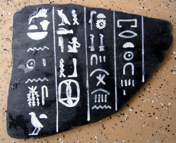 Joyeux Anniversaire en hiéroglyphes