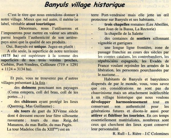 banyuls village historique le blog de albert callis. Black Bedroom Furniture Sets. Home Design Ideas