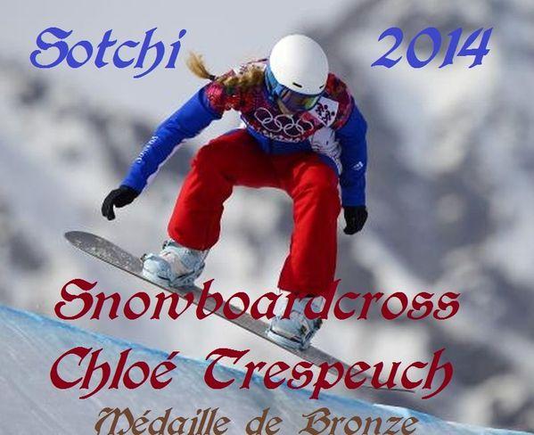 Sotchi 2014-Chloé- trespeuch- bronze-en-Snowboardcross