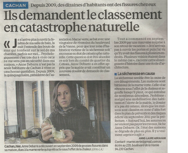 Article du Parisien du 30 01 2013